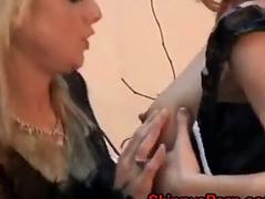 Busty Lesbian Fucks Her Maid