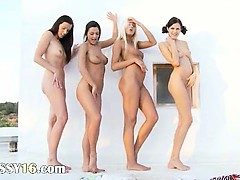 A handful of lesb babes..
